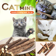 5/15/25 pcs Pure Natural Catnip Pet Cat Toy Molar Toothpaste Branch Cleaning Teeth  Snacks Sticks Supplies D40
