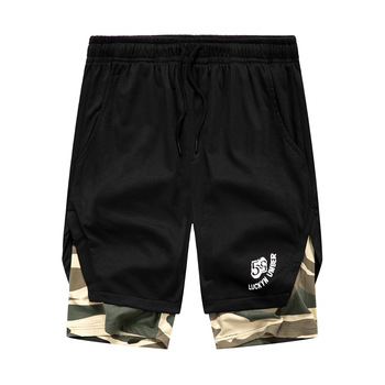 Summer Shorts Men New Style Camouflage Contrast Color Shorts Breathable Casual Sports Loose-Fit Mens Shorts