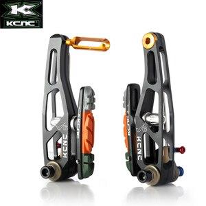 Image 4 - KCNC V6 VB6 MTB מקפלים אופני V בלם מנופי מחוגה אופניים רים בלם סט עם מנופי 340G מלא סט שחור צבע