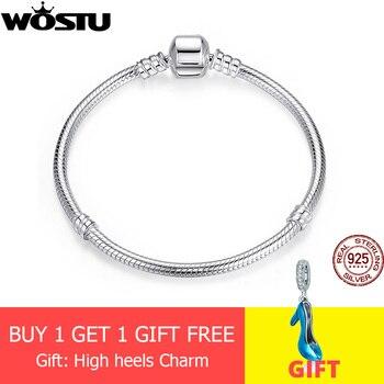 Luxus Original 100% 925 Sterling Silber Schlange Kette Armband Armreif für Frauen Authentische Charme Schmuck Pulseira Geschenk XCHS902
