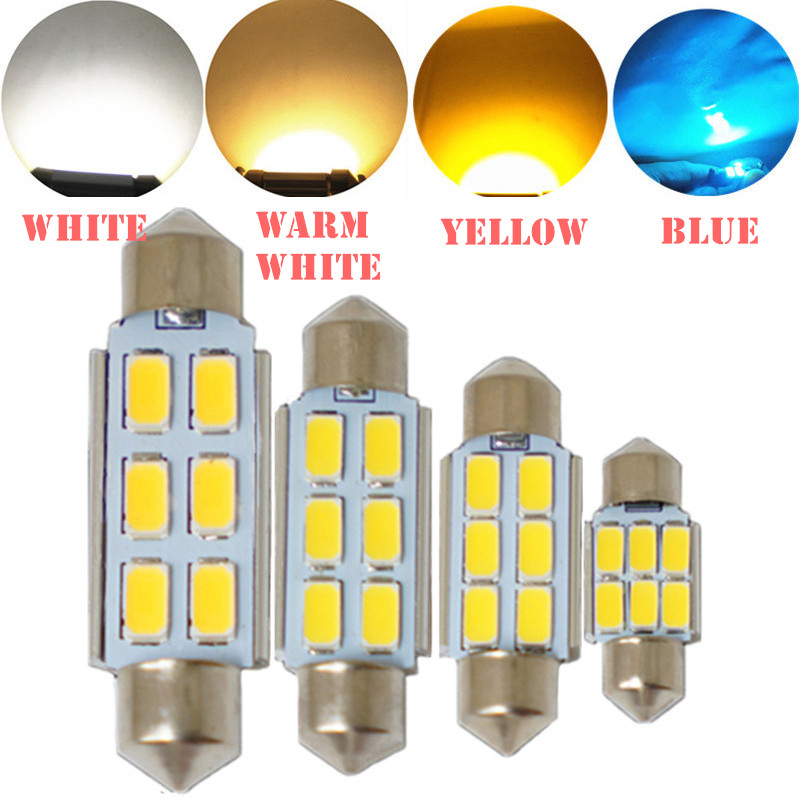 Автомобильные светодиодные лампы для интерьера Festoon CANBUS 31 мм 36 мм 39 мм 41 мм C5W без ошибок 5630 5730 LED SMD Интерьер лед синий теплый белый желтый