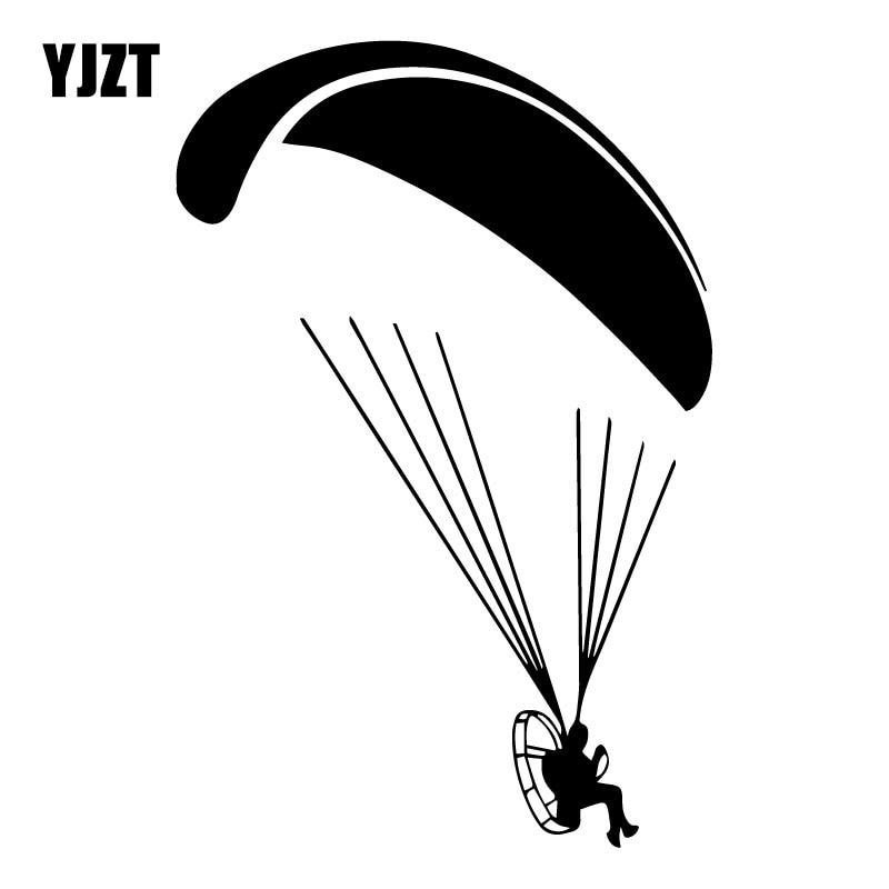YJZT 12CM*17.9CM Paramotor Flyer Paramotorist Motorparaplan Fashion Decor Car Sticker Vinyl Car Styling Decal C31-0326