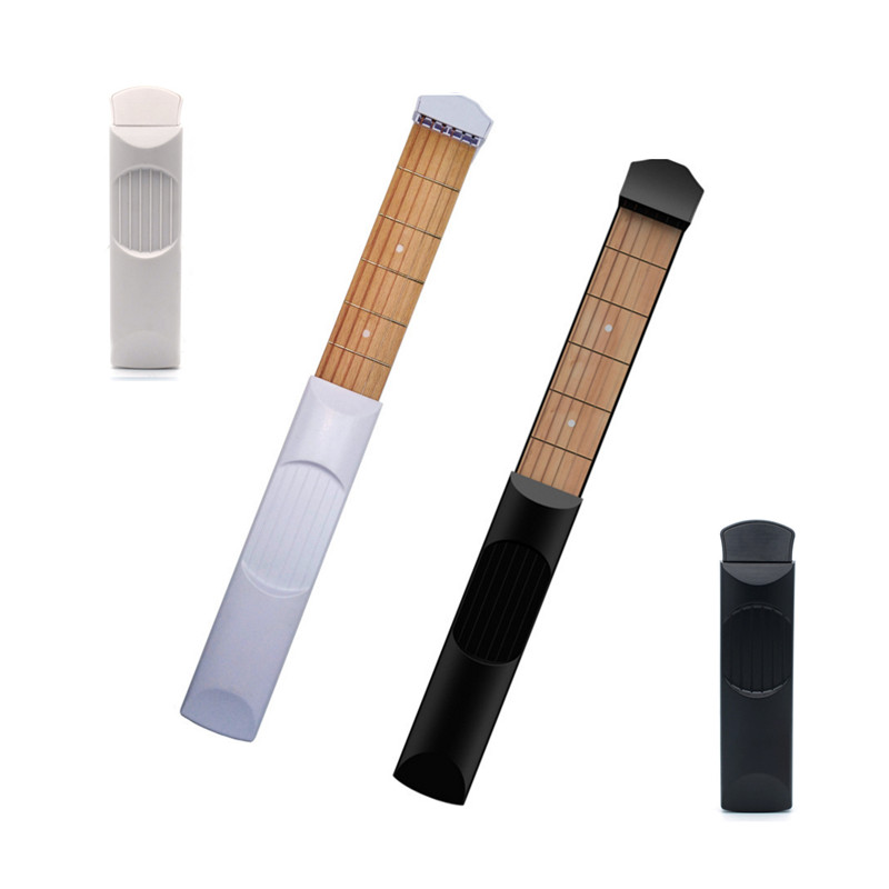 Pocket Acoustic Guitar Practice Tool Portable 6 Model Wooden Practice Strings Guitar Trainer Tool Gadget For Beginners