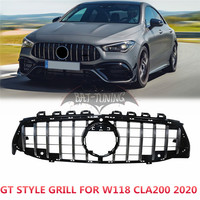 GT Style Grill For Mercedes W118 CLA Class CLA200 CLA260 CLA220 CLA45 AMG 2020 Upgrade GTR Look ABS Front Bumper Racing Grill