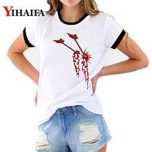 3D T Shirts Women Creative Print Tees Graphic Summer Hip Hop Short Sleeve 2019 Halloween White Casual Unisex Tops