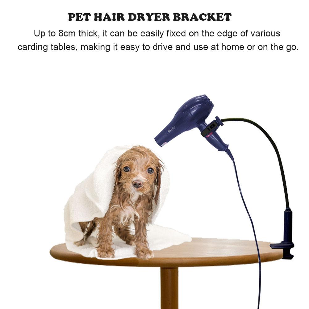Pet Hair Dryer Stand Fixed Bracket 360 Degree Rotating Freely Retractable Rack Convenient Hands-Free Care Accessories For Dogs 10