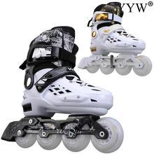 2021 Roller Skates Skating Girl Women Kids Teenager Sliding Inline 4 Wheels 1 Row Line Outdoor Beginner Sports Flat Figure Flash