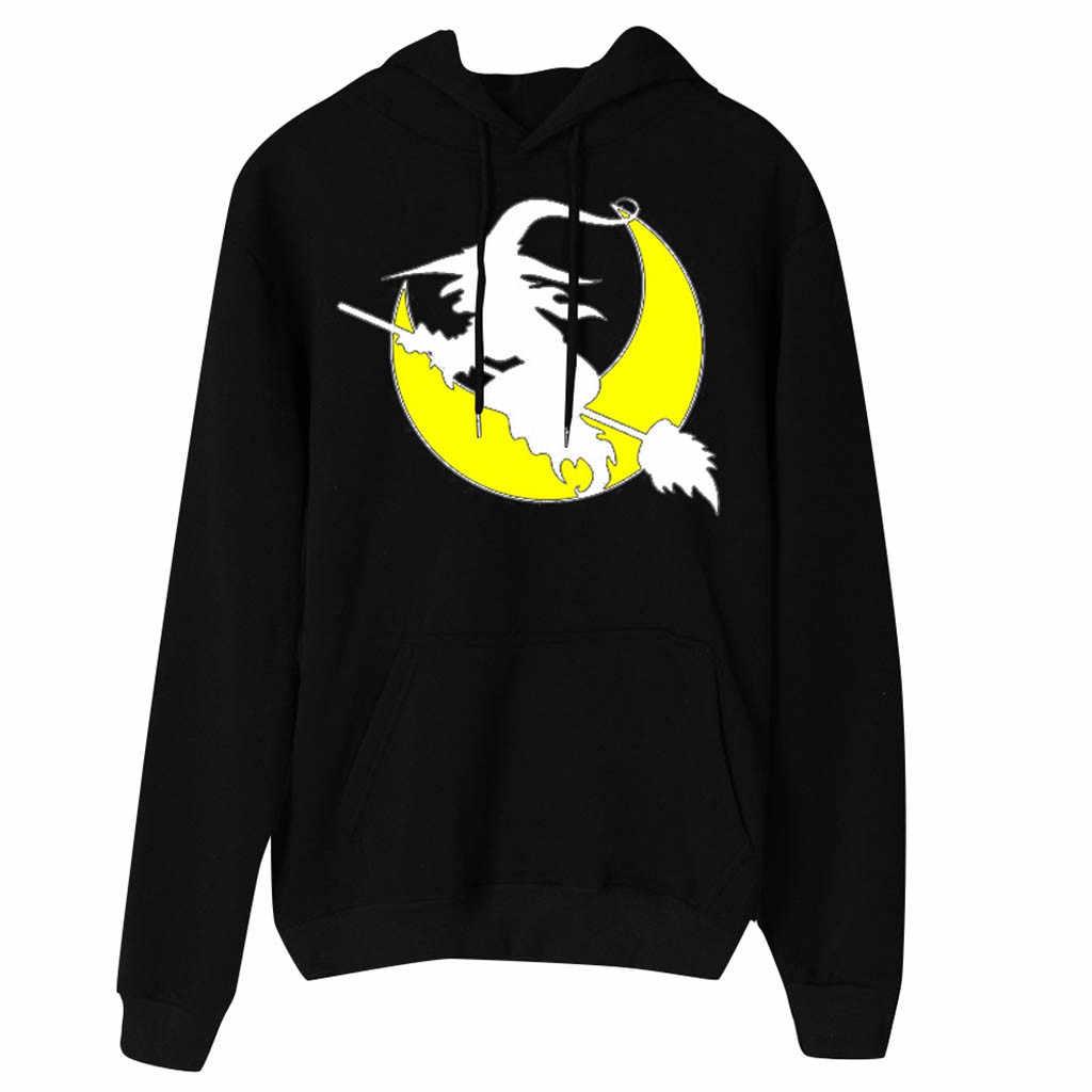 Womail Women Hoodie Long Sleeve Cute Sweatshirts Female print Autumn Halloween Pullover Casual fashion Female Patchwork kpop P94