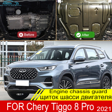 For Chery Tiggo 8 Pro 2021 Engine Base Guard Shield Splash Mud Flap Gear Box Under Fender Cover Mudguard Board Plate Plastic