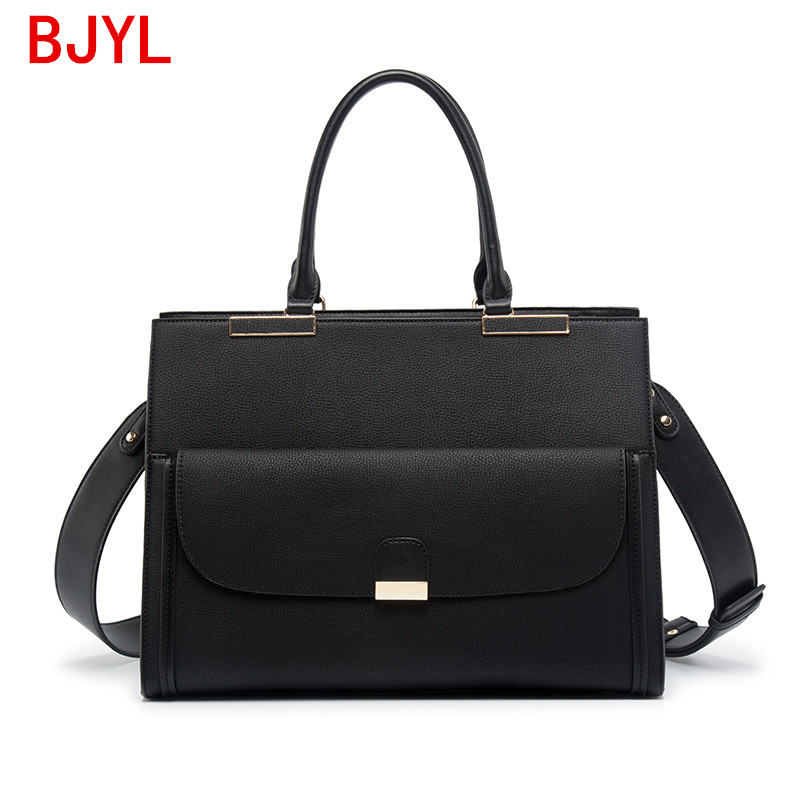 New Luxury Fashion Women Handbag Business Notebook Briefcase Laptop Bag Shoulder Slung Bag Female Official Document Tote Bags PU