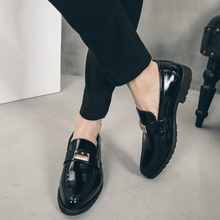 Fashion Shoes Men Pointed Toe business Dress Loafers Leather Oxford for Formal Mariage Slip on Wedding Party