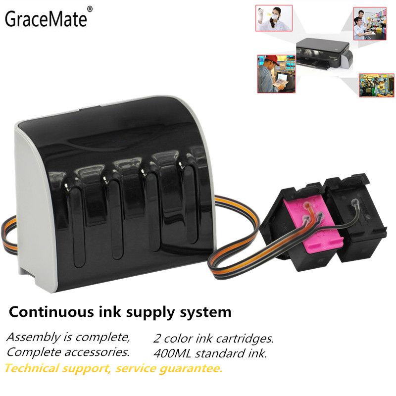 GraceMate Ink System Replacement for <font><b>HP</b></font> <font><b>650</b></font> CISS for <font><b>hp</b></font> Deskjet 1015 1515 2515 2545 2645 3515 4645 <font><b>Printer</b></font> image