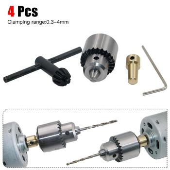 4Pcs 0.3-4mm Mini Micro Small Electric Aluminum Hand Portable Handheld Drill Chuck
