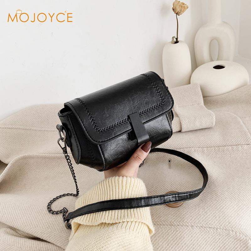 Stone Pattern PU Leather Crossbody Bags For Women 2020 Small Totes Leather Purse Chain Crossbody Bags Lady Shoulder Bag