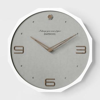 Creative Nordic Bedroom Wall Clock Gray Analog Watch Modern Design Wall Clocks Decorative Watches Living Room Wall Clock II50BGZ