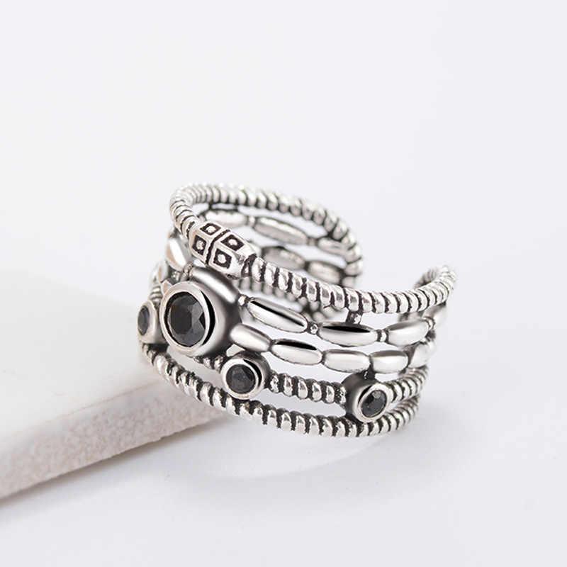 Moda do vintage elegante aberto manguito anéis de dedo retro delicado flor esculturas unisex mulher/homem cosplay banda larga anillo anneau