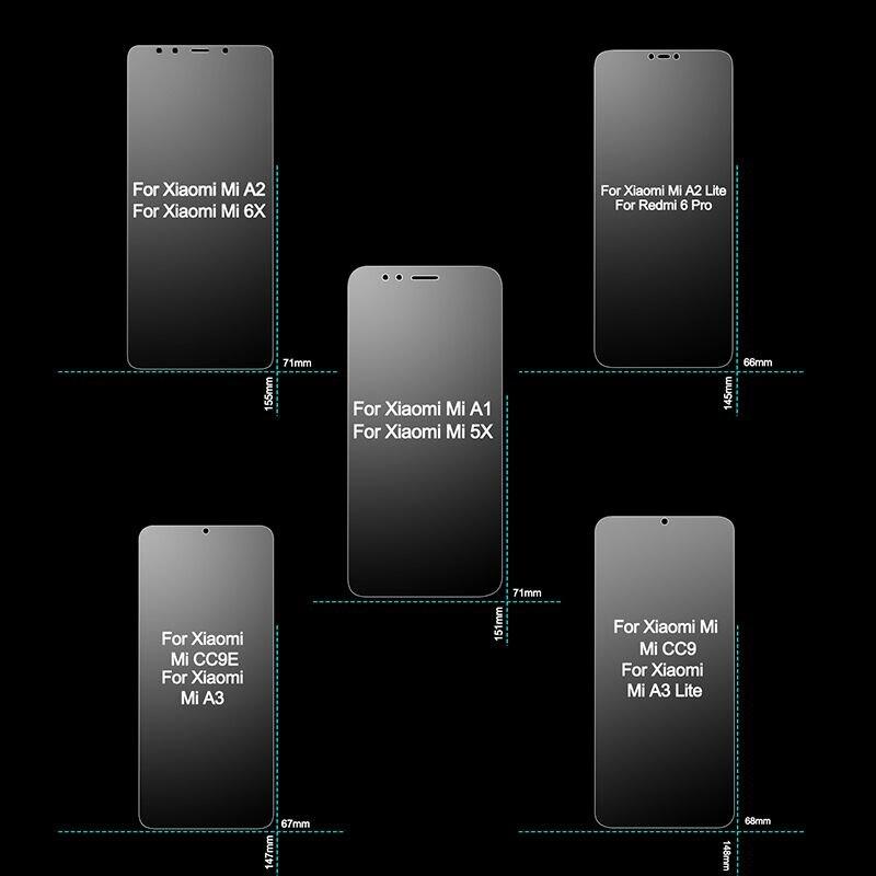 Tempered Glass for Xiaomi Mi A1 A2 A3 Lite Screen Protector 2.5D 9H HD on for Xiaomi Mi A1 A2 5X 6X CC9E CC9 Protective Glass for Xiaomi Mi A1 A2 A3 Lite Safety Glass