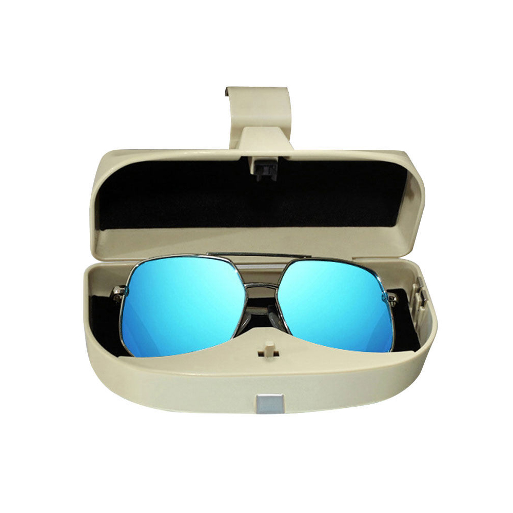 Sunglasses Eyeglasses Mount with Ticket Card Clip EKIND 2 Pack Glasses Holders for Car Sun Visor Black Transparent