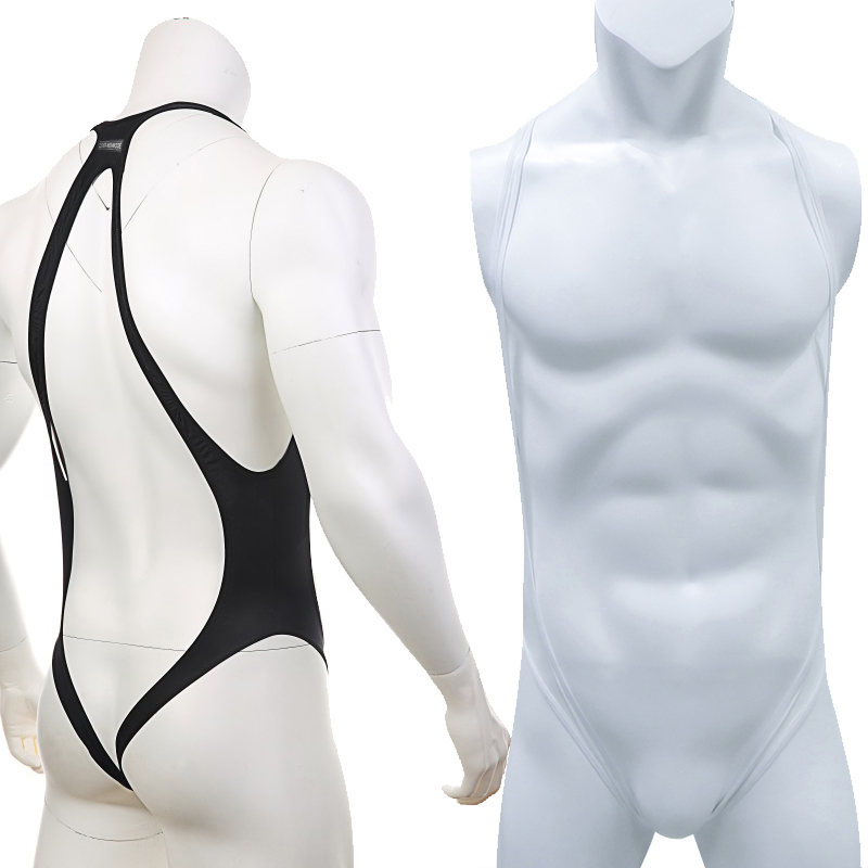 Sexy Men Backless Bodysuit Transparent Lingerie Jumpsuit Strap Costume Shaper Exotic Jumpsuit One-Piece Clothing