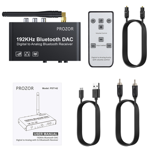 Image 5 - PROZOR DAC Converter Built in Bluetooth Receiver 192kHz DAC With IR Remote Control Digital Coaxial Toslink to  L/R RCA 3.5mm