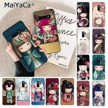 MaiYaCa kawaii Japanese Kokeshi doll Soft TPU Phone Cover for Samsung S9 S9 plus S6 edge plus S7 S7edge S8 S8plus S10 S10 plus