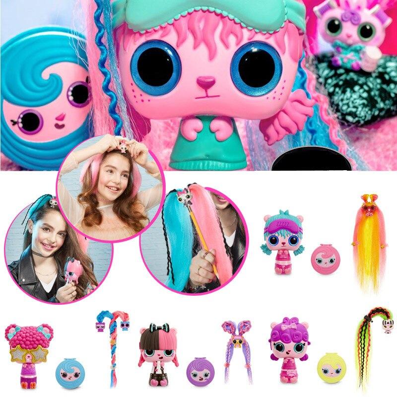Copy Version Pop Pop Hair Surprise Blind Box Pop Art Doll Magic Hairdressing Comb Headdress Toys For Girls Christmas Gift