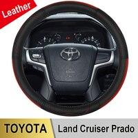עור אמיתי רכב הגה כיסוי L גודל עבור טויוטה לנד קרוזר פראדו 90 100 120 150 200 300 Fj קרוזר אביזרי רכב