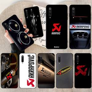 HPCHCJHM выхлопная система Akrapovic черный чехол для мобильного телефона для Xiaomi Mi 10 Pro lite Mi9 9SE 8SE Pocophone F1 Mi 9T Pro