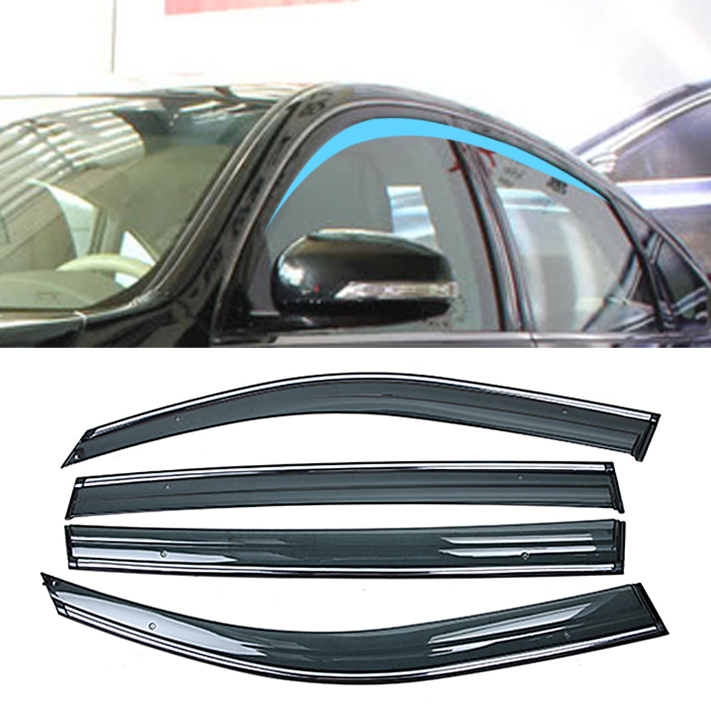 For NISSAN TEANA J31 2003-2008 Car Window Sun Rain Shade Visors Shield Shelter Protector Cover Trim Frame Sticker Accessories