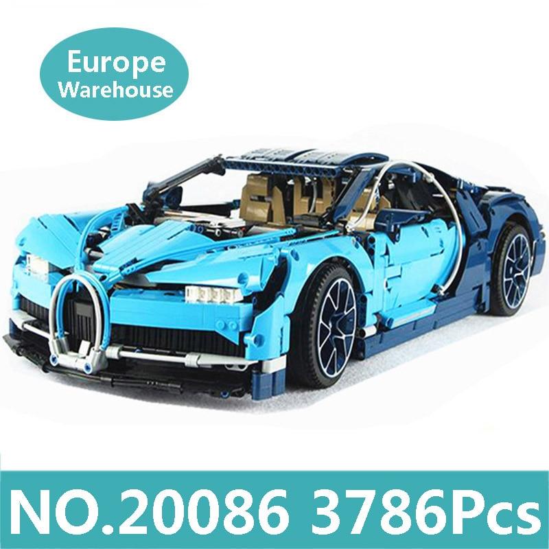 Lepinblocs roi briques 20086 Super Sport course voiture blocs de construction Set technique voiture Bugatti Chiron 42083 jouets pour enfants cadeau-in Blocs from Jeux et loisirs    1
