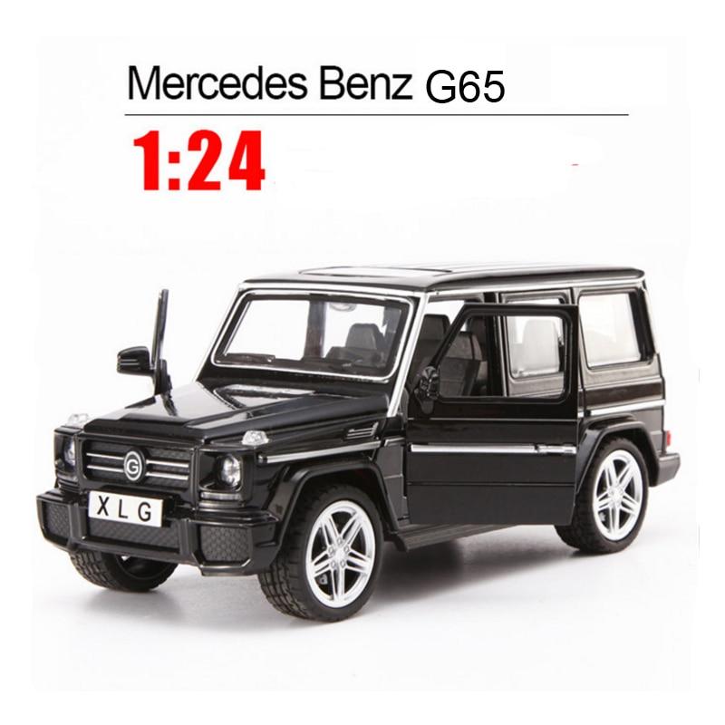Модели автомобилей из 1:24 сплава Mercedes Benz Brabus G65 SUV, детские игрушки, классические металлические автомобили, литые под давлением, оттягивающие
