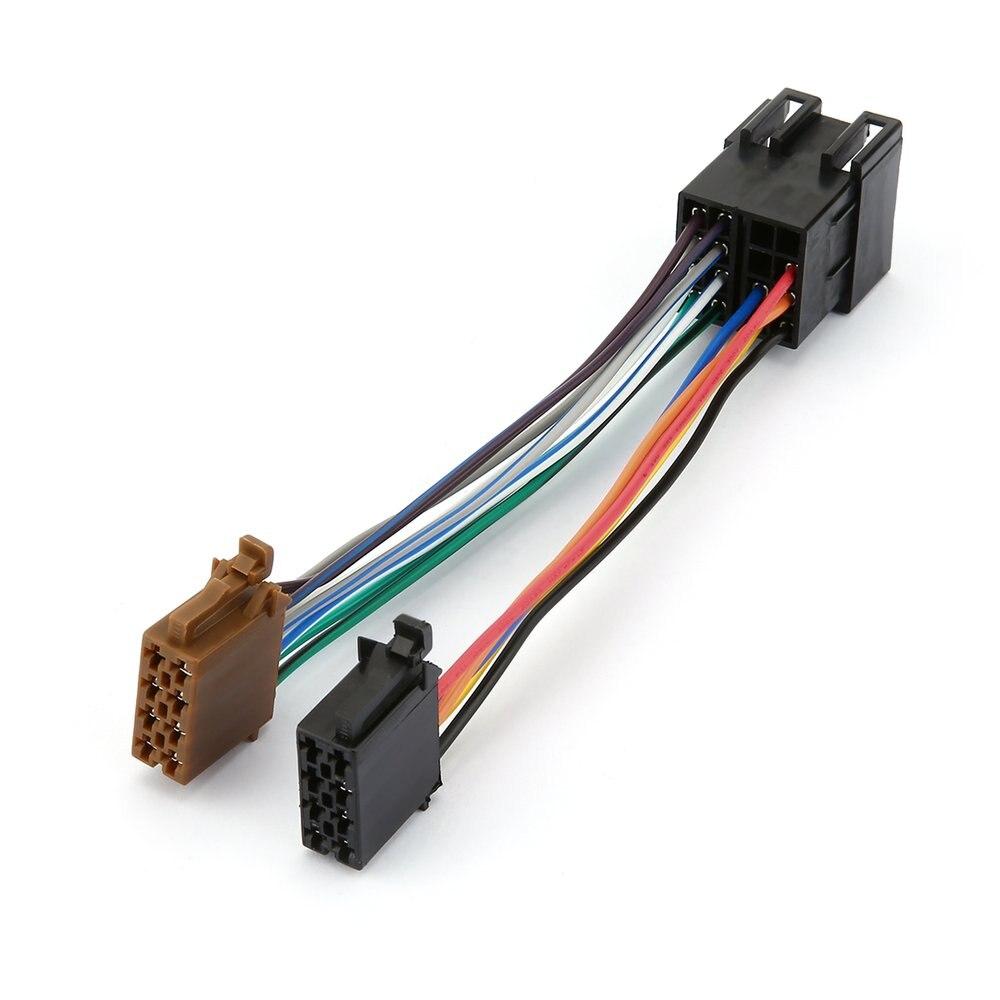 Coleira de áudio estéreo para carro, coleira durável para rádio automotivo com adaptador iso para peugeot 106 206 306 307 405 607