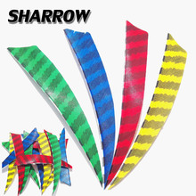 50/100pcs Archery 5inch 4 Colors Shield  Arrow Feather Stripe Colorful Turkey Hunting Shooting Accessories