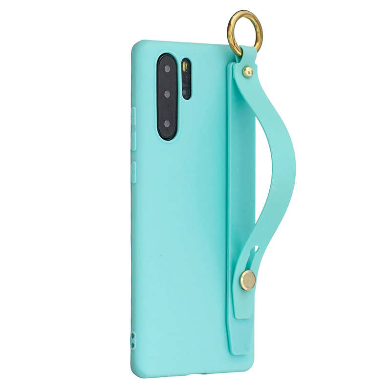Wrist Strap Hand Band silicone case For Huawei P8 Lite 2017 P9 P10 P30 P20 Lite Pro Nova 3i Y6 Y7 Y5 2018 Y9 2019 P Smart cover in Fitted Cases from Cellphones Telecommunications