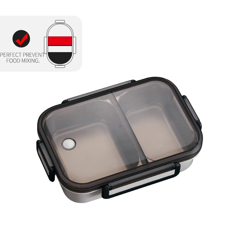 WORTHBUY японский Ланч-бокс для детей школы 304 из нержавеющей стали бенто Ланч-бокс герметичный контейнер для еды детская коробка для еды - Цвет: A Khaki