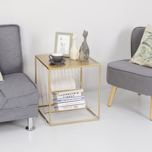 Nordic iron sofa bedside small table with magazine book storage tray home bedroom side table living room coffee table black gold one lux black acrylic vanity tray table lucite side corner tables plexiglass living storage desk