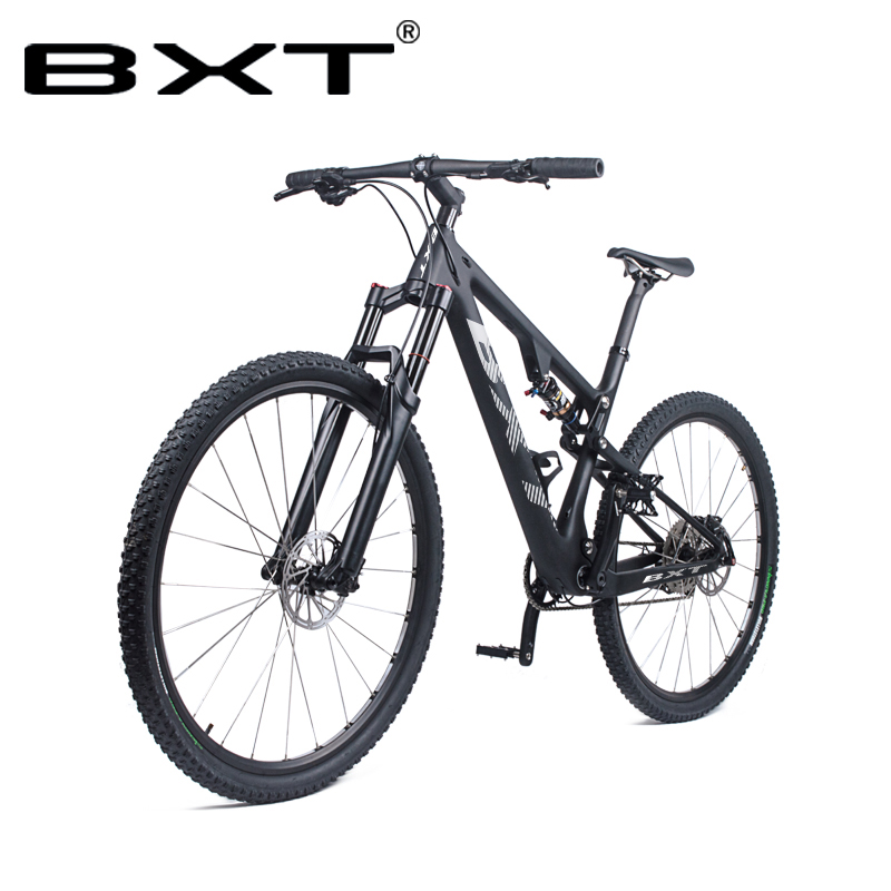 Free Shipping 29er Mountain Bike T800 Carbon Full Suspension MTB Bicycle Cycling 29in carbon MTB frame Carbon Axle Thru Fork image