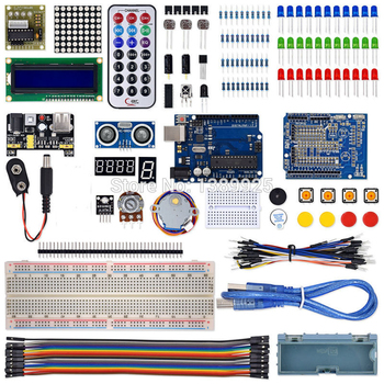 2019 Hot sale The Most Complete Starter Kit for Arduino R3 with Tutorial /1602 LCD /R3 board/Resistor