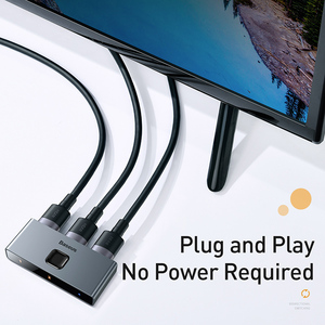 Image 5 - Baseus HDMI Switcher 4K 60Hz çift yönlü HDMI anahtarı 1x 2/2x1 HDR HDMI ses adaptörü için PS4 TV kutusu HDMI Switcher