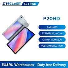 Teclast P20HD 10.1 ''tablette Android 10.0 1920x1200 SC9863A Octa Core 4 go de RAM 64 go ROM double 4G alphablet AI tablettes rapides PC