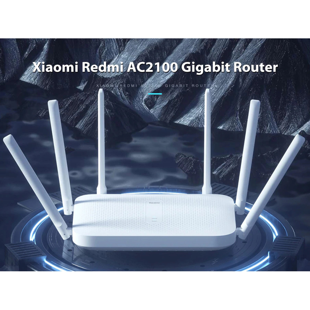 Xiaomi Router AC2100 2033Mbps 2.4G 5G Dual Band 128MB OpenWRT WiFi Router with 6 High Gain Antennas 6