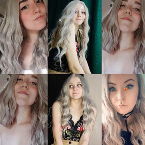 Image 5 - Wignee Ombre длинный волнистый серый термостойкий синтетический парик для женщин коричневый блонд/Серый Американский косплей/вечерние парики из натуральных волос