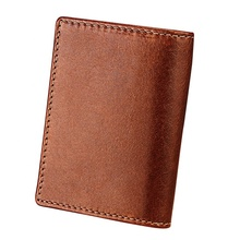 card wallet holder Boshiho Factory Rfid Blocking Carteras Genuine Leather Mens Minimalist Wallet Card Holder