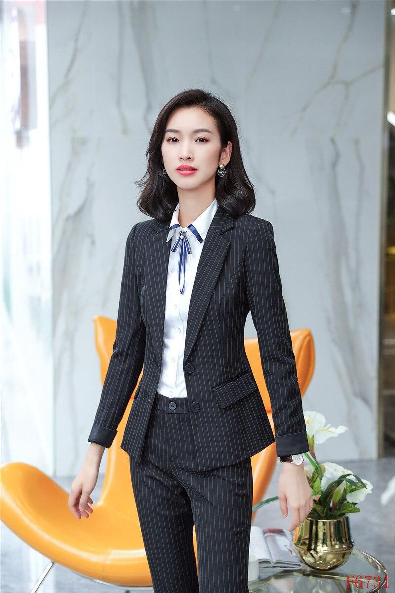New Female Elegant Formal Office Work Wear Ladies Black Blazers Women Coats & Jackets Elegant Office Uniform Designs OL Styles