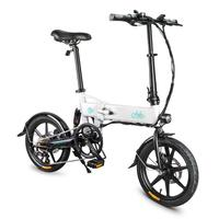 Spor ve Eğlence'ten Elektrikli Bisiklet'de D2 Akıllı 7.8AH katlanır pil elektrikli bisiklet moped çift disk frenler LED ön ışık elektrikli bisiklet