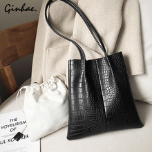 Vintage 2Pcs Chic Composite Bag Set Women Crocodile Pattern Leather Messenger Shoulder Bag 2019 Female Handbag Casual Tote Bags стоимость