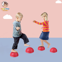 16cm Half Ball Physical Fitness Appliance Exercise Children Balance Ball Point Massage Stepping Stones Bosu Balance Toy for kids mini play ball physical fitness ball for fitness appliance exercise wobble stability balance balls indoor ourdoor toys for kids