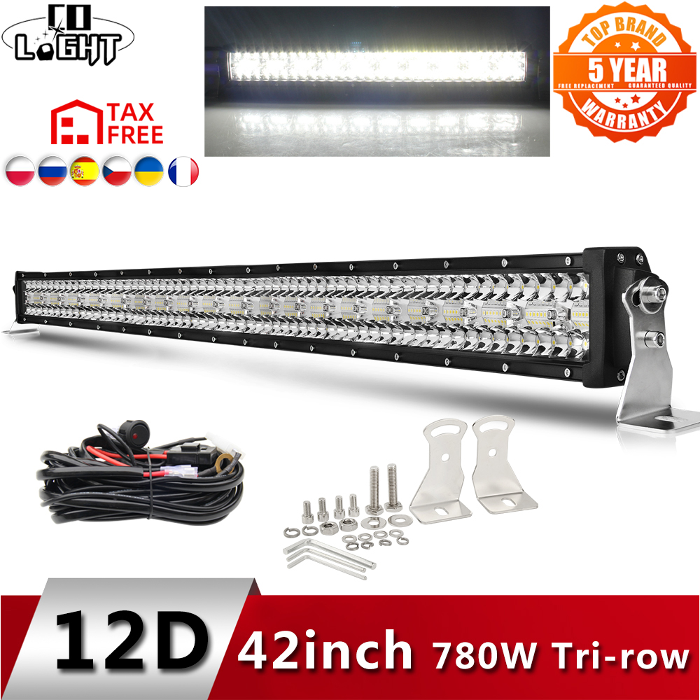 Ultimate SaleLed-Bar Offroad Work High-Power 4x4 Boat Trucks 3-Row 780W 975W 12D 12V Combo for ATV