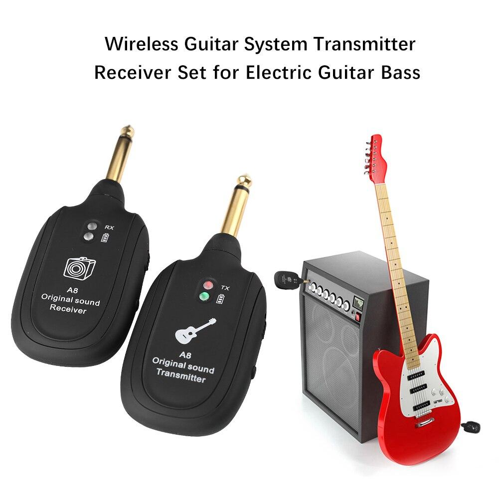 Odbiornik systemu bezprzewodowego USB akumulator nadajnik do odbioru gitary elektrycznej dla miłośnicy muzyki akcesoria do gier