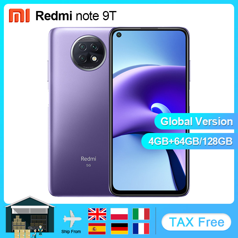 """Küresel sürüm Xiaomi Redmi not 9T 4GB 64GB/128GB MTK Dimensity 800U 5G cep telefon 48MP kamera NFC 5000mAh 6.53 """"DotDisplay"""